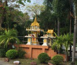 Shrine at intersection, Kasetsart University